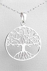 Tree Of Life Pendant with Celtic Influence - 925 Sterling Silver